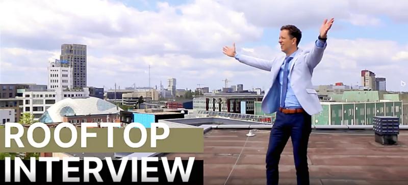 Rooftop interview