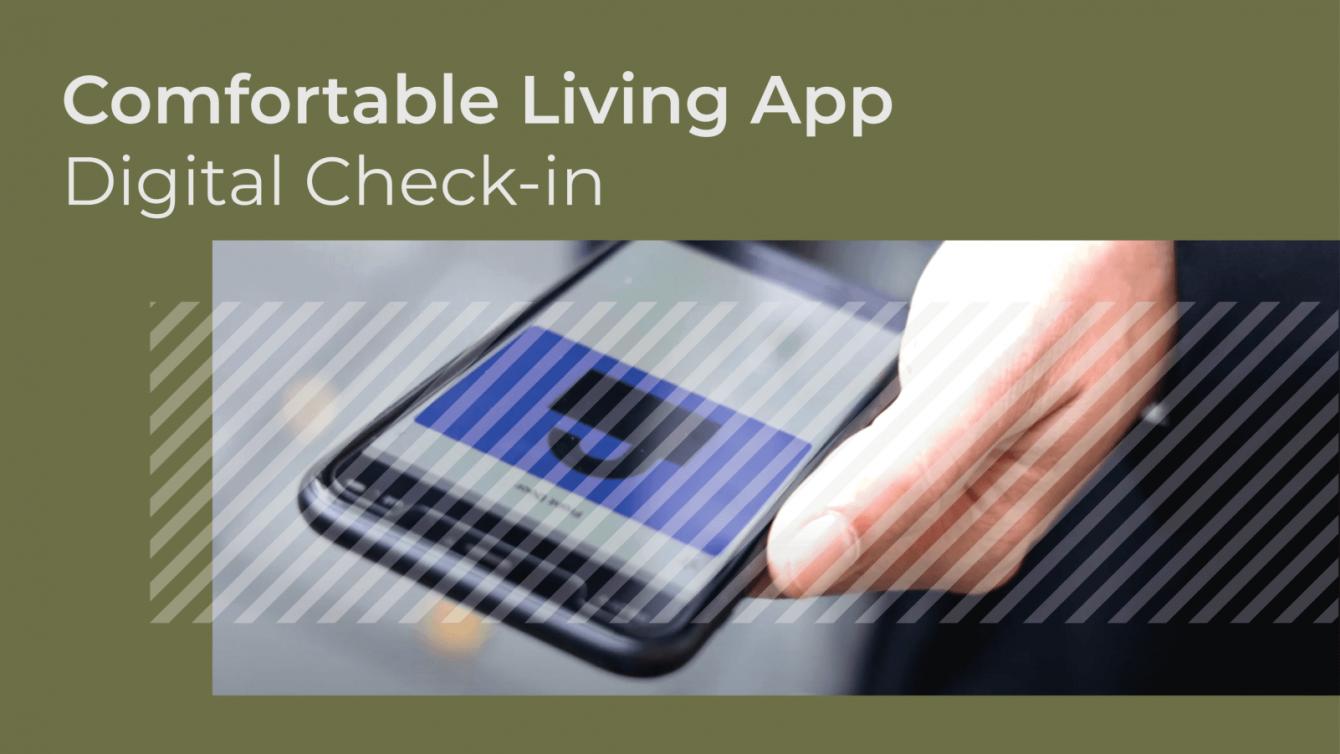 Comfortable Living App - Digital check-in